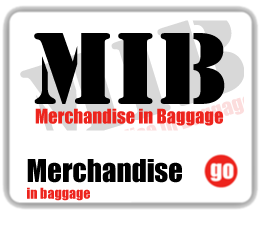 Merchandise in baggage
